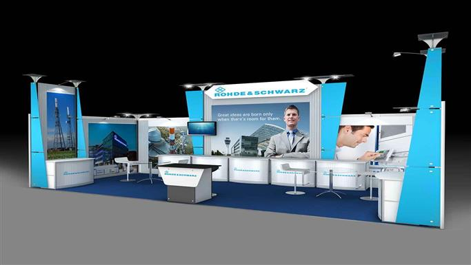 Exhibition Stall Zone : Afu one side open airlite fusion m exhibition stall