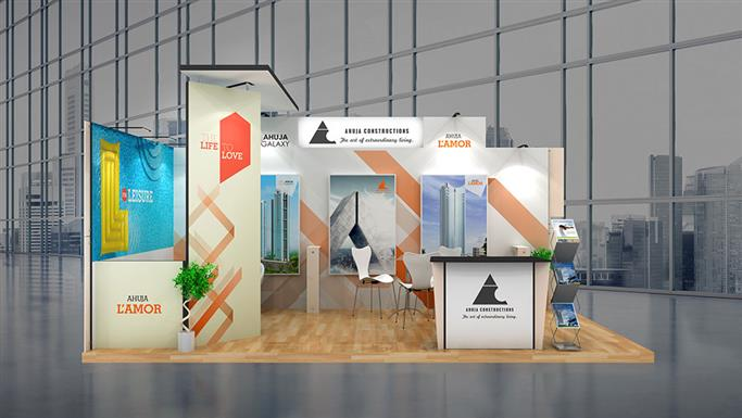 Exhibition Stall Case Study : Mtr exhibition stall design and sqm