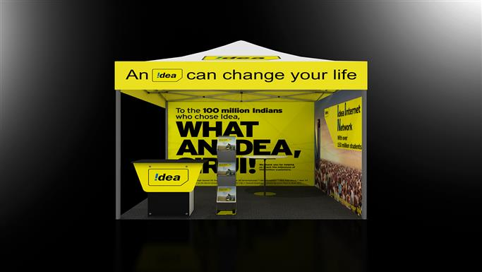 Exhibition Stall Case Study : Eos mx m europlus outdoor promotional tent