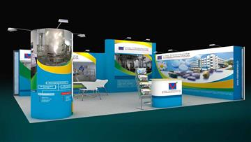 20sqm exhibition stall design