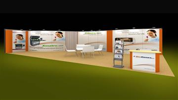 8m x 4m exhibition stand