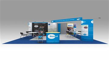 5.4m x 6m exhibition stand