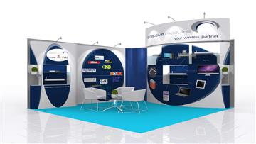 4mx3m exhibition stall design