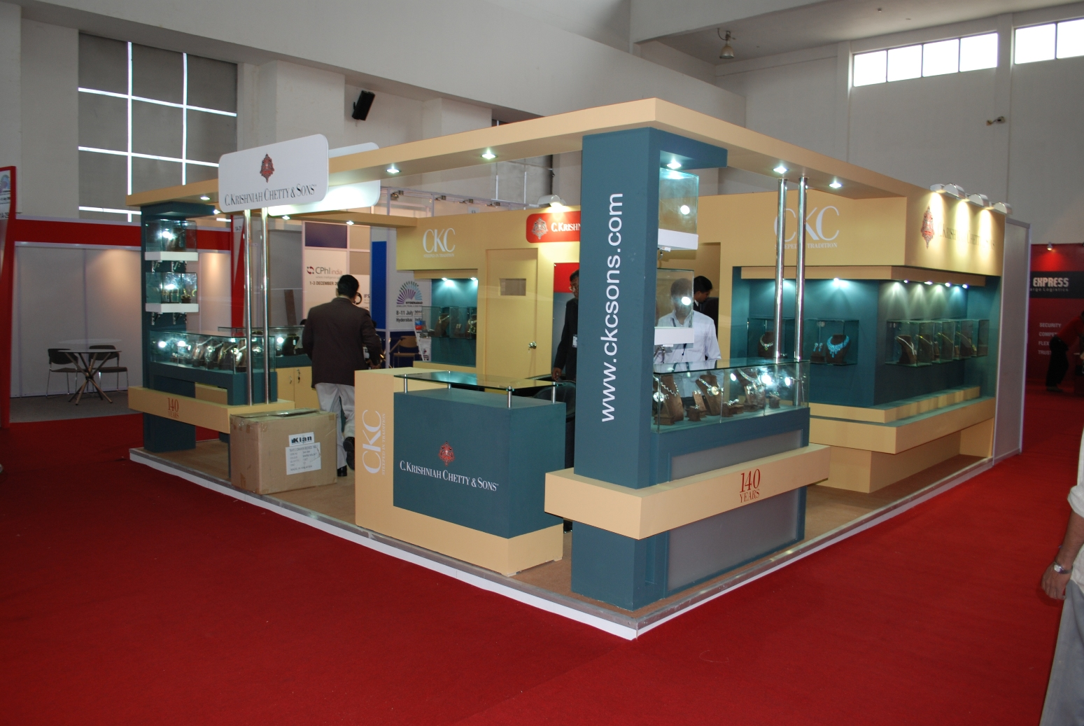 Trade Jewellery Stands : Hyderabad jewellery pearl and gem fair