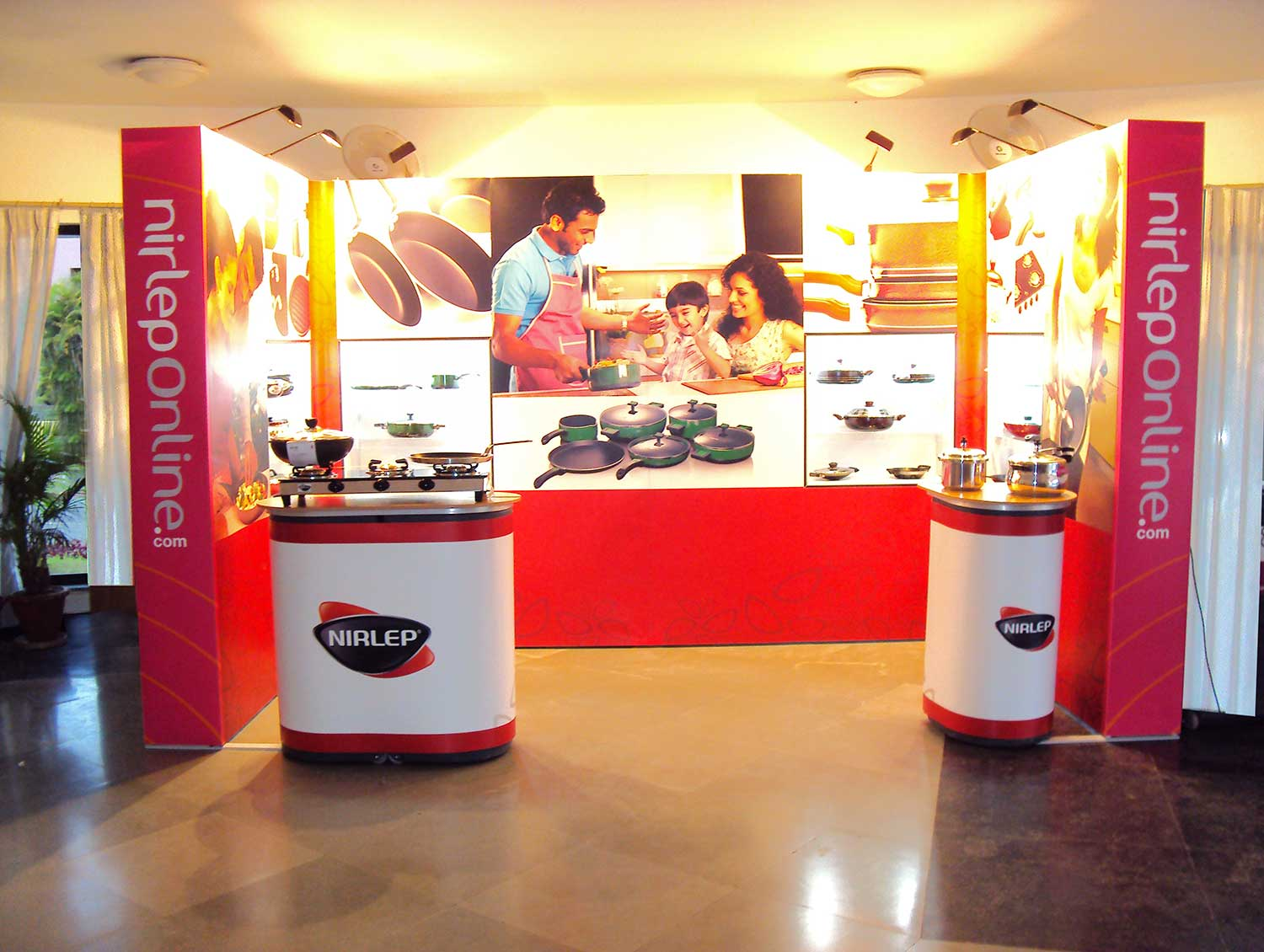 Partable Expo Stands : India kitchen and cabinetry show bangalore