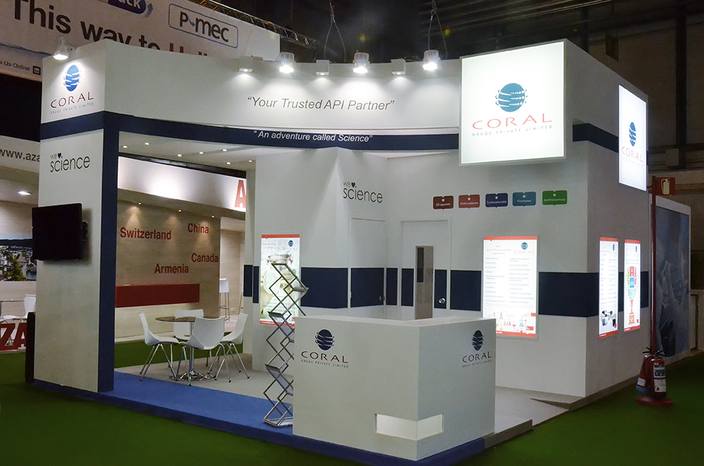 Simple Exhibition Stall : Interactive technology an imposing exhibition stall