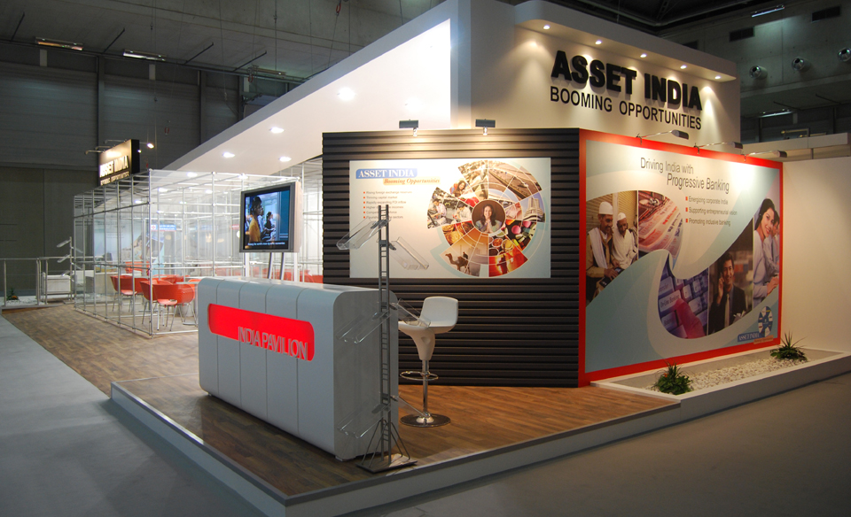 Exhibition Stall Posters : Exhibition stall designs for banking insurance finance industries