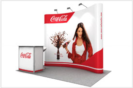 Coca Cola Backdrop and Popup Display for Brand Activation