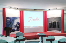 Danfoss Backdrop and Popup Display for Conference