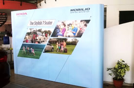 Honda Mobilieo Honda Backdrop and Popup Display for Dealer Activation