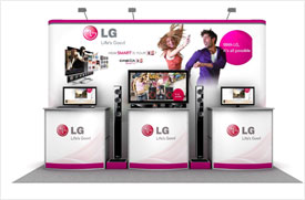 LG Backdrop Display for Product Launch