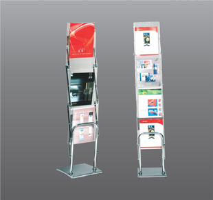 3 pocket brochure stand
