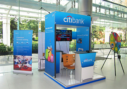 3d stall design for 'Citibank'