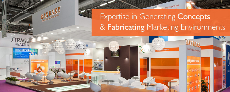 Custom Exhibition Stall design for Ranbaxy
