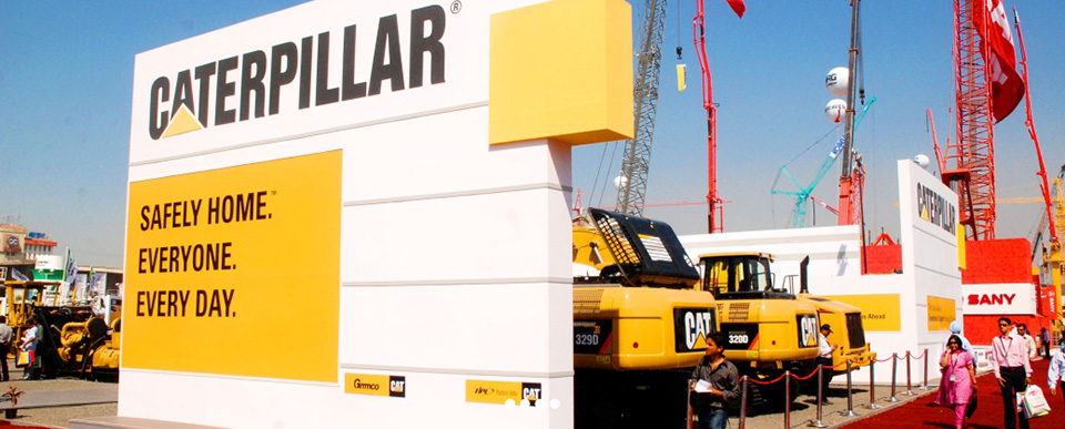 Custom Exhibition Stall design for Caterpillar