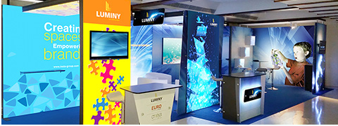 Luminy Exhibition display stands