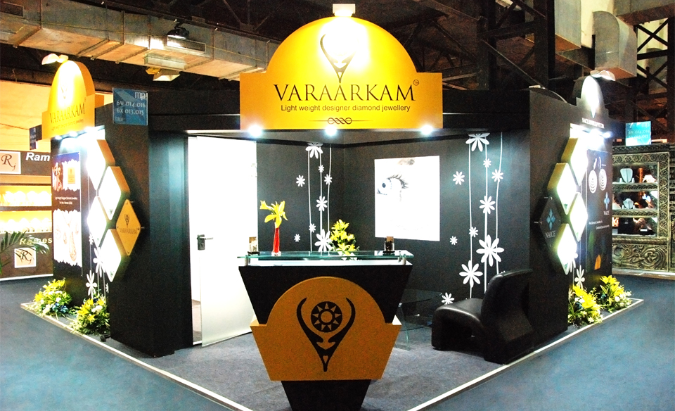 Jewellery Exhibition stall designs for Varaarkam