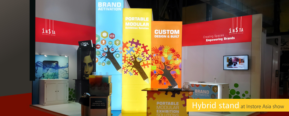 Hybride stand at Instore Asia show
