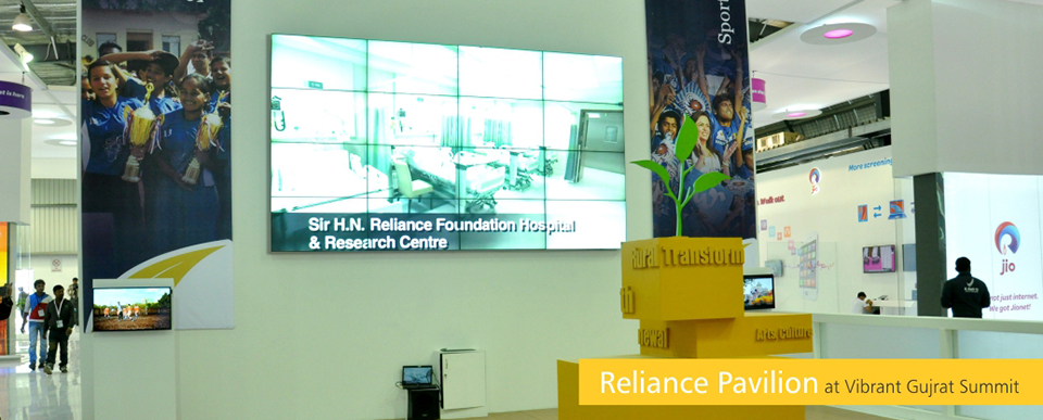 Reliance Pavilion at Vibrand Gujrat Summit