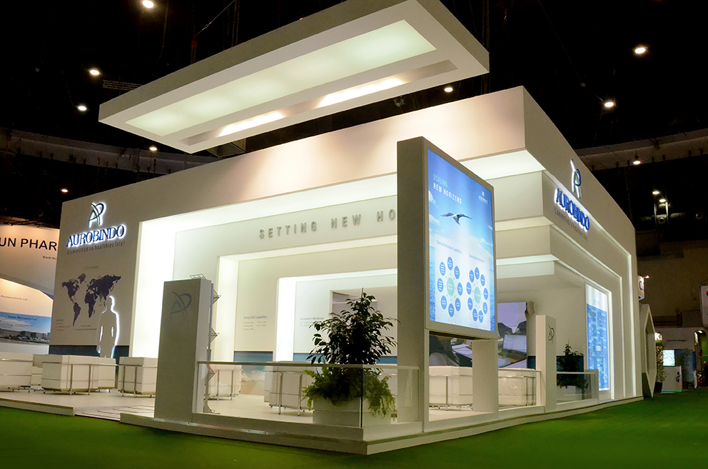 Modular Exhibition Stands Group : Aurobindo cphi madrid show