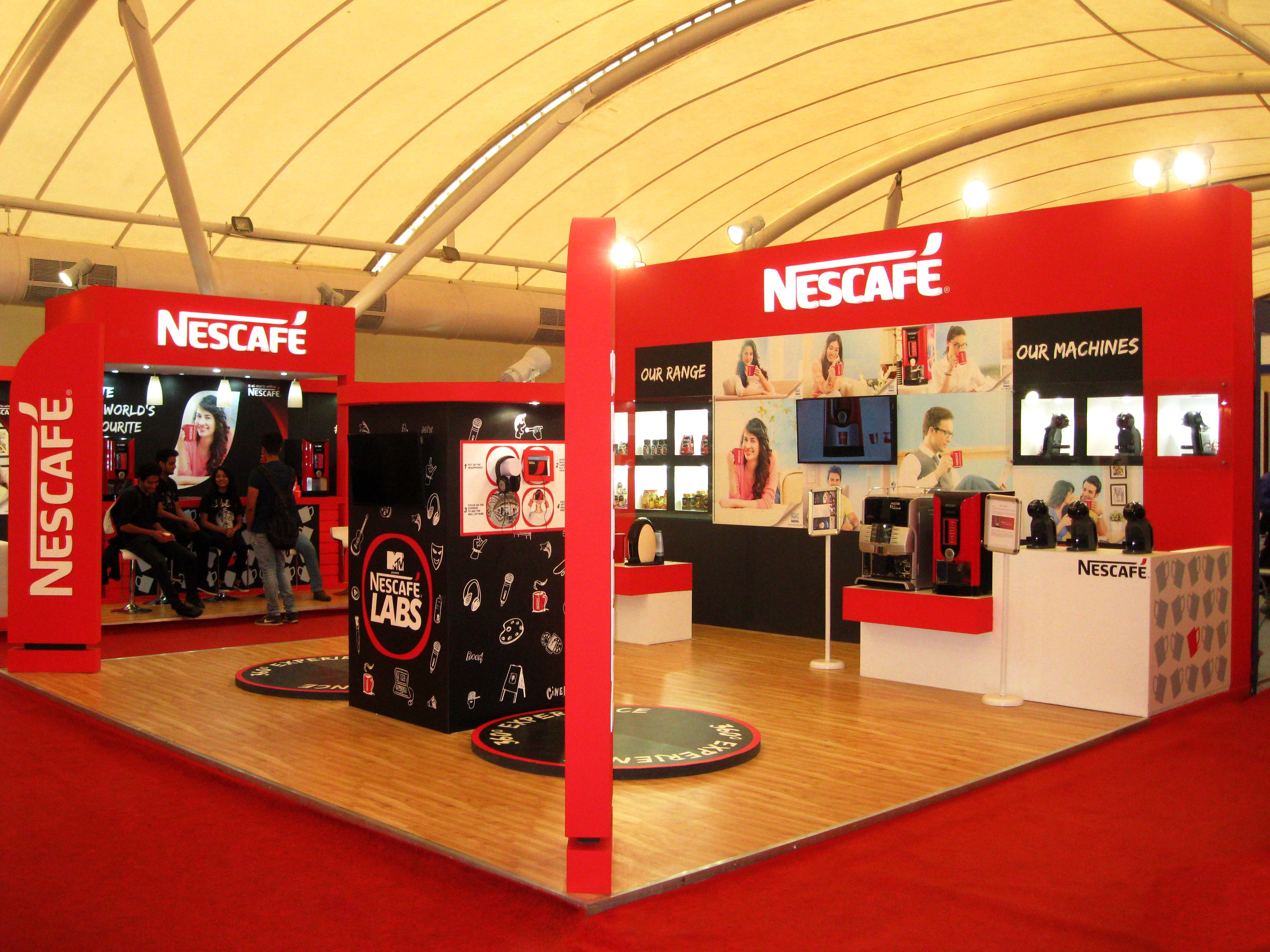 Custom Exhibition Stand By Me : Nestle india international tea coffee expo