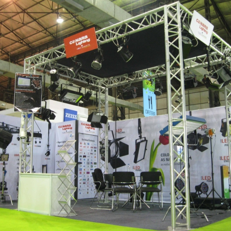 Portable Exhibition Lighting : Case study for canara lighting portable exhibition stall created by