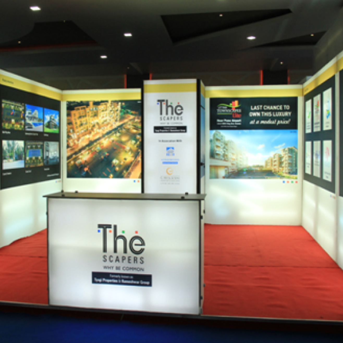 Exhibition Stall Case Study : Case study of the scrapers portable exhibition stall in
